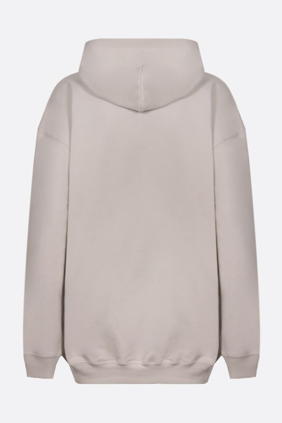 BALENCIAGA: balenciaga® print oversize cotton hoodie Color Grey_2
