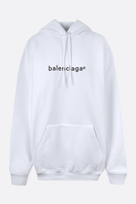 BALENCIAGA: balenciaga® print cotton hoodie Color White_1