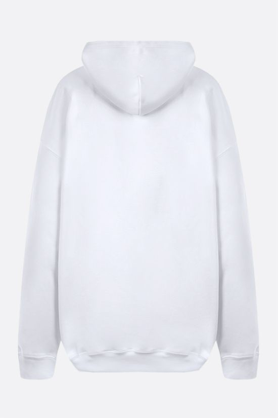 BALENCIAGA: balenciaga® print cotton hoodie Color White_2