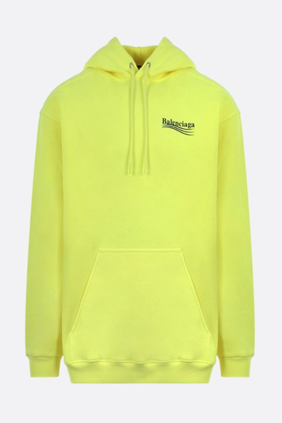BALENCIAGA: Political Campaign oversize cotton hoodie Color Yellow_1