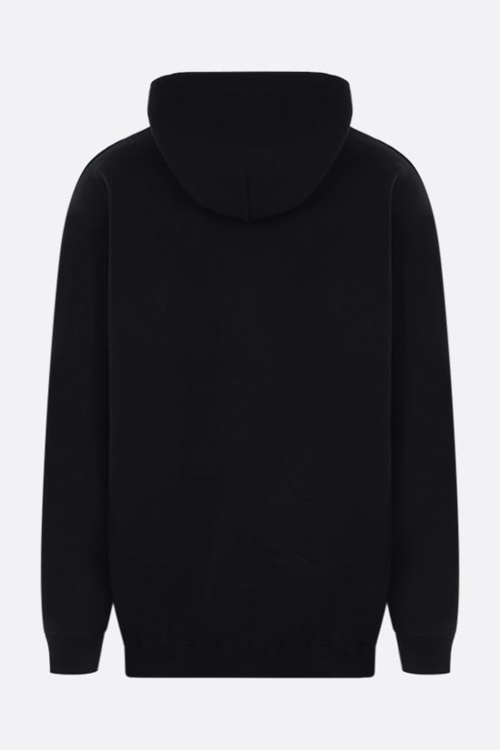 BALENCIAGA: Languages oversize jersey hoodie Color Black_2