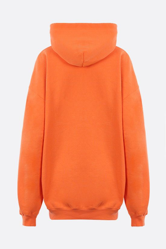 BALENCIAGA: Languages oversize jersey hoodie Color Orange_2
