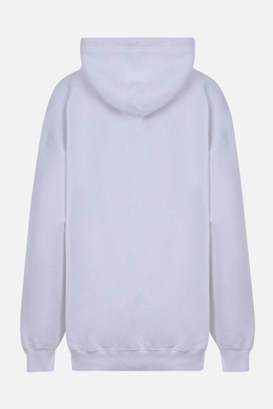 BALENCIAGA: oversized I Love U print cotton hoodie Color White_2