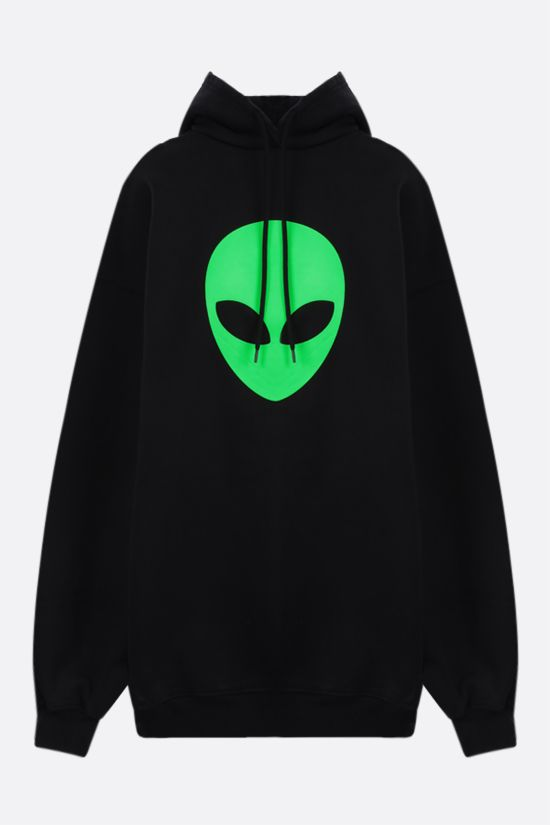 BALENCIAGA: Alien oversize cotton hoodie Color Black_1