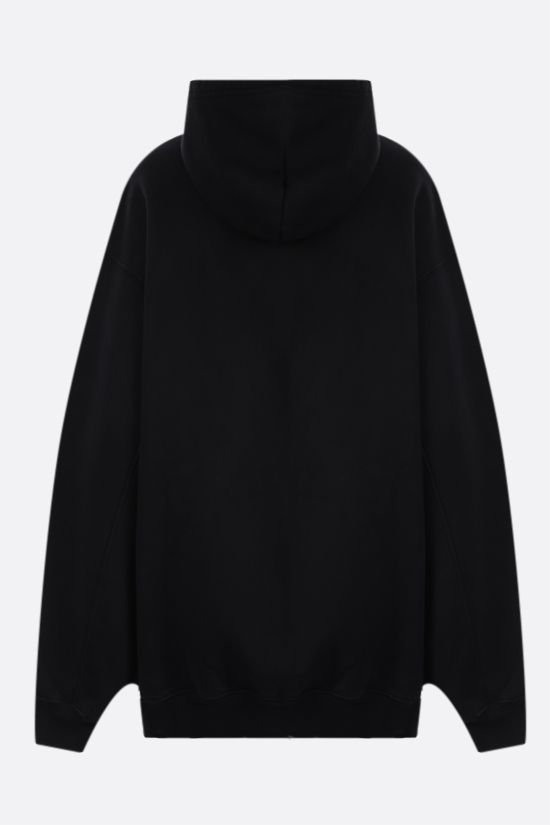 BALENCIAGA: Alien oversize cotton hoodie Color Black_2