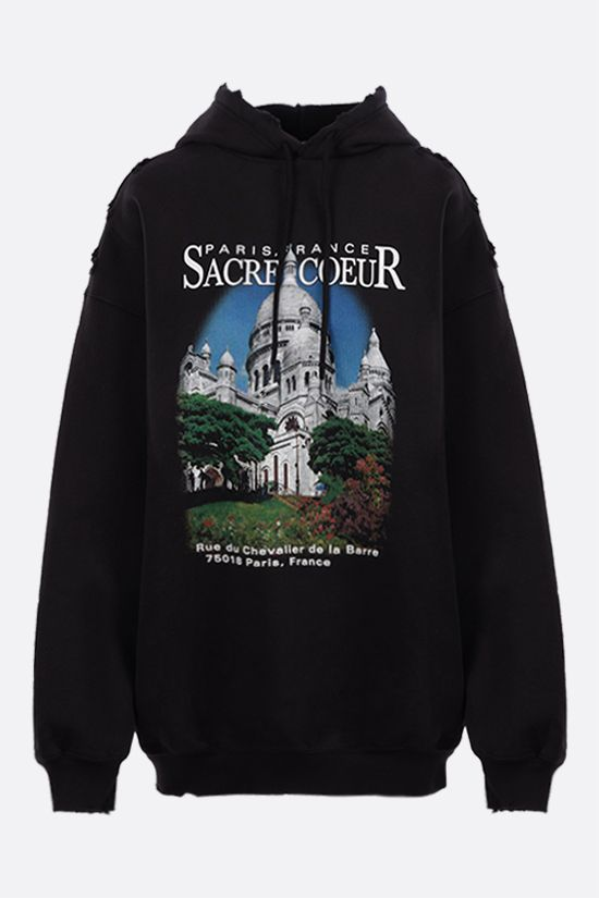 BALENCIAGA: Sacrè Cœur oversize cotton hoodie Color Black_1