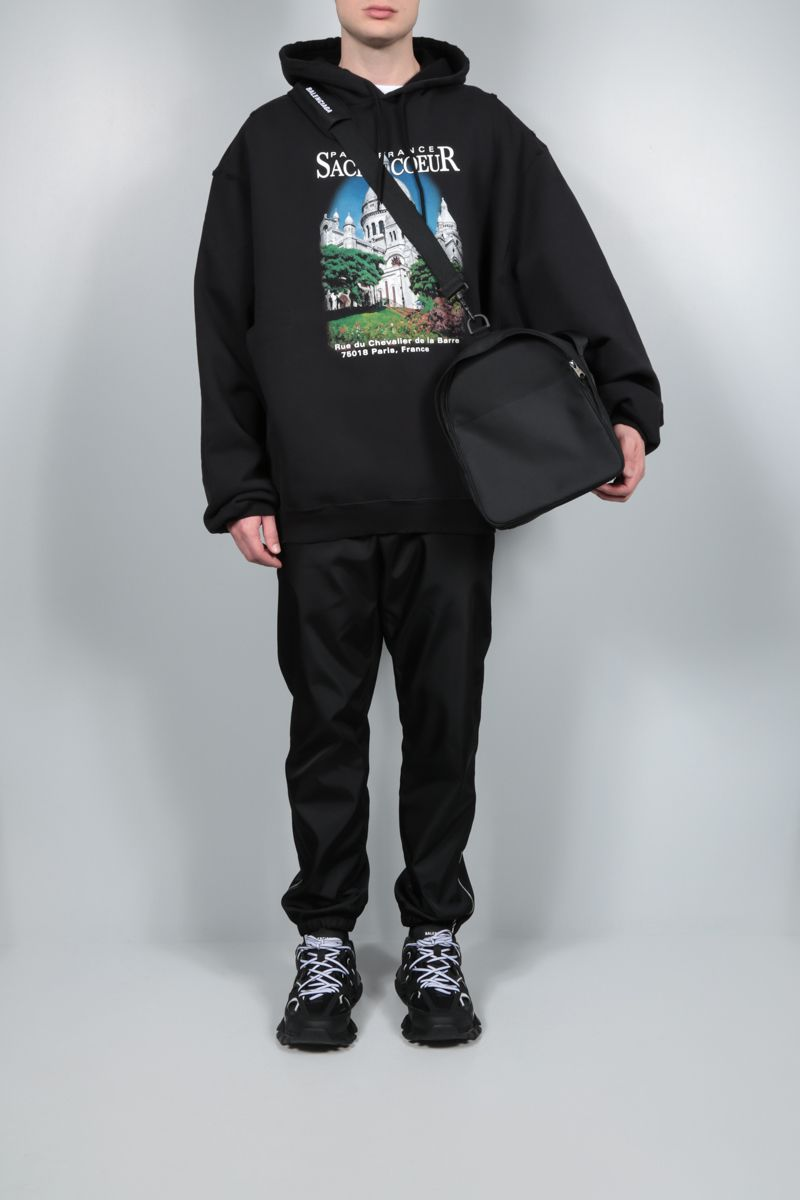 BALENCIAGA: Sacrè Cœur oversize cotton hoodie Color Black_2