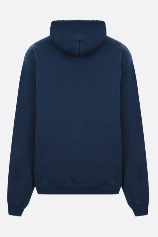 BALENCIAGA: oversize Athletes print cotton hoodie Color Blue_2