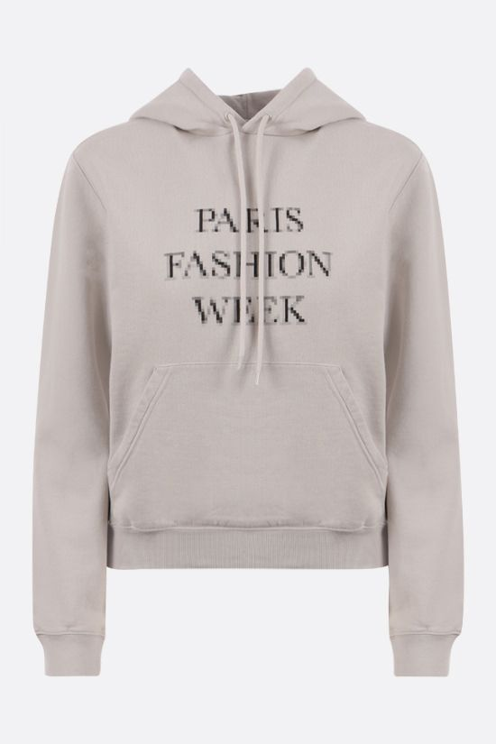 BALENCIAGA: Fashion Week cotton hoodie Color Grey_1