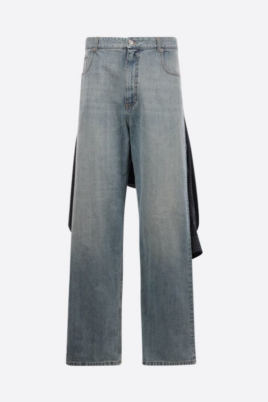 BALENCIAGA: Hybrid Shirt wide-leg jeans Color Blue_1