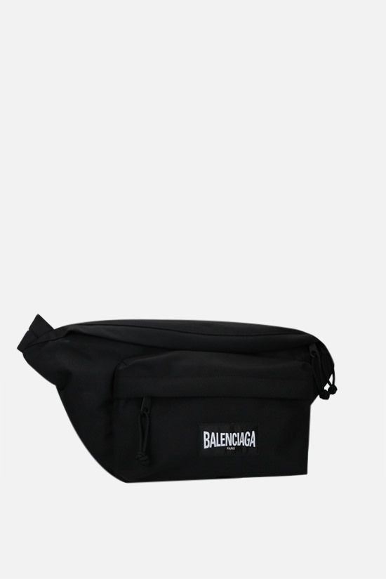 BALENCIAGA: Oversize XXL recycled nylon belt bag Color Black_2