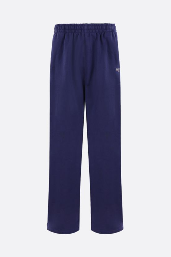 BALENCIAGA: Political Campaign cotton joggers Color Blue_1