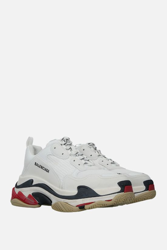 BALENCIAGA: Triple S faux leather and mesh sneakers Color Multicolor_2