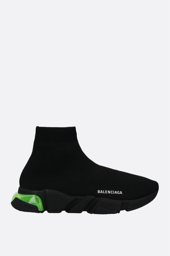 BALENCIAGA: Speed Clear stretch knit trainers Color Black_1