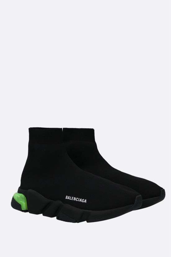 BALENCIAGA: Speed Clear stretch knit trainers Color Black_2
