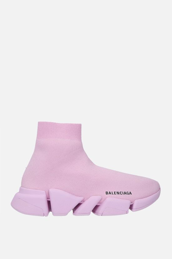 BALENCIAGA: Speed 2.0 recycled stretch knit trainers Color Pink_1