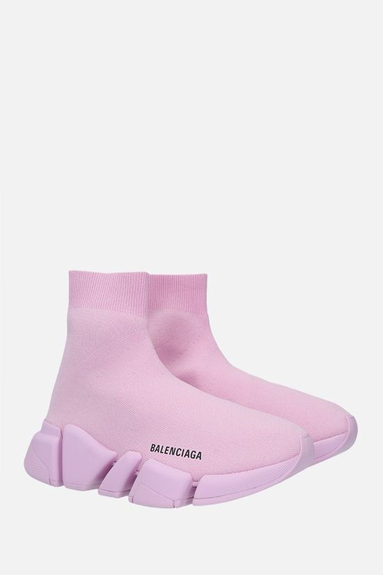 BALENCIAGA: Speed 2.0 recycled stretch knit trainers Color Pink_2