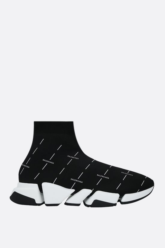 BALENCIAGA: Speed recycled knit trainers Color Black_1