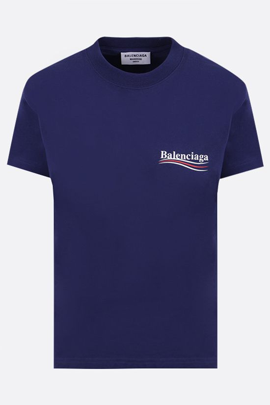 BALENCIAGA: Political Campaign cotton t-shirt Color Blue_1