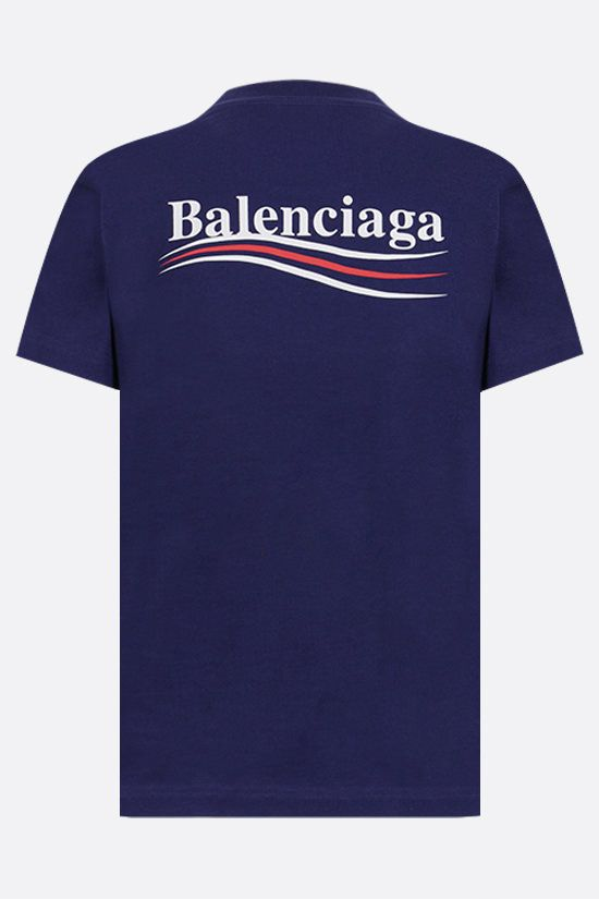 BALENCIAGA: Political Campaign cotton t-shirt Color Blue_2