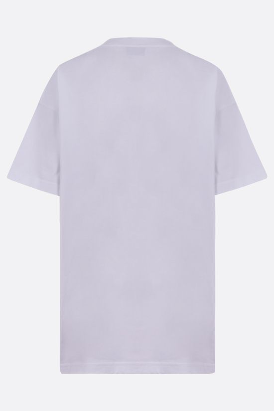 BALENCIAGA: logo print cotton t-shirt Color White_2