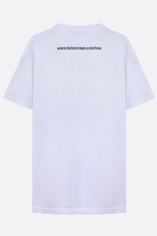 BALENCIAGA: I love you print cotton t-shirt Color White_2