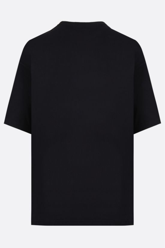 BALENCIAGA: logo print cotton blend t-shirt Color Black_2
