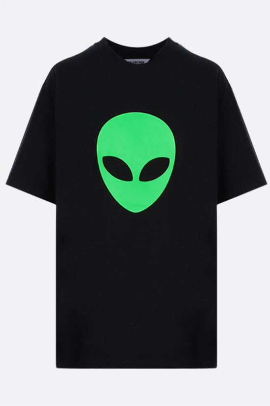 BALENCIAGA: Alien cotton t-shirt Color Black_1