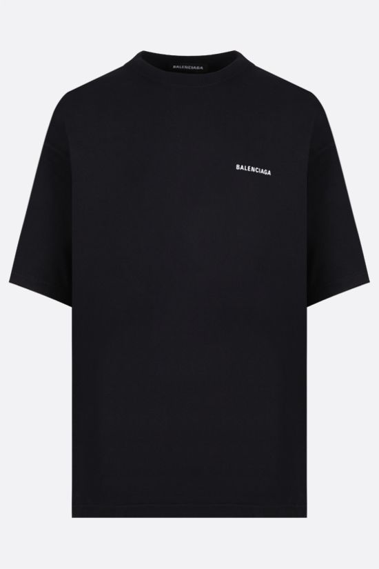 BALENCIAGA: Dèfilè oversize cotton t-shirt Color Black_1