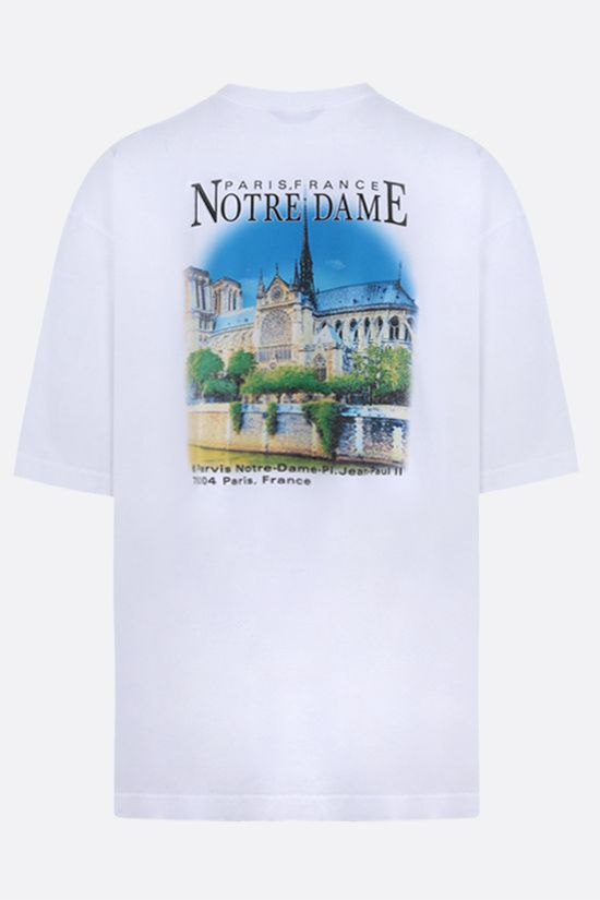 BALENCIAGA: Paris, France print cotton oversize t-shirt Color White_2