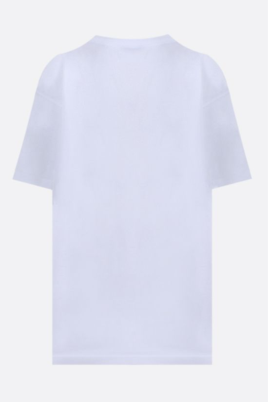 BALENCIAGA: balenciaga® print cotton oversize t-shirt Color White_2
