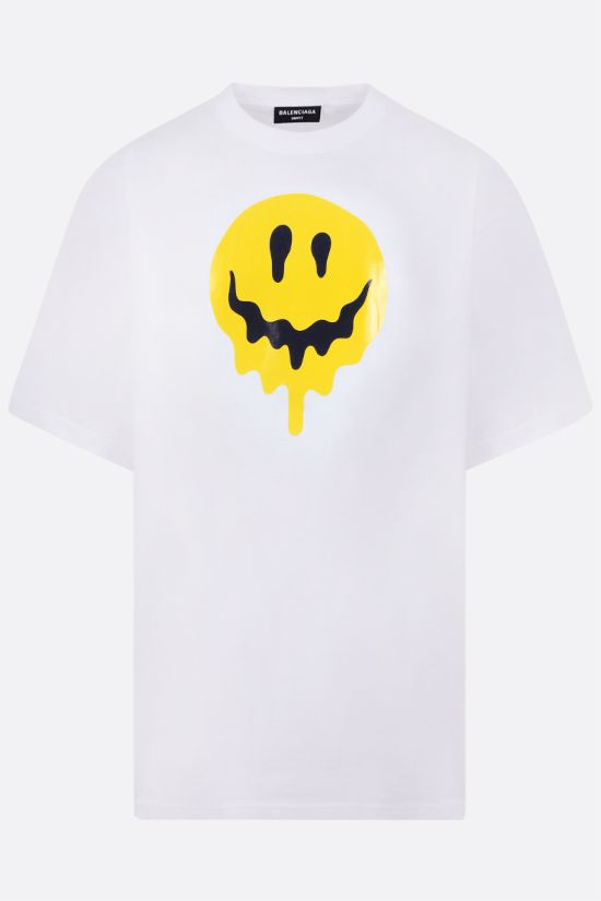 BALENCIAGA: Drip Peace oversize cotton t-shirt Color White_1