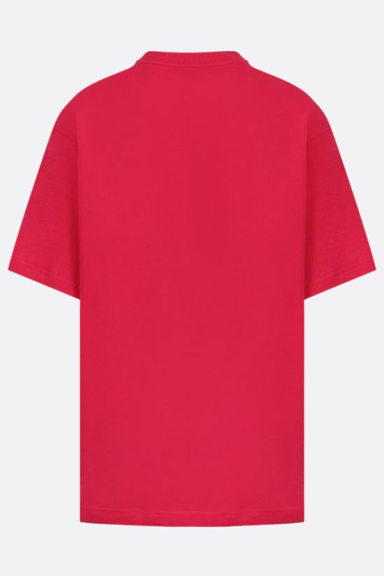 BALENCIAGA: Your LOGO Here print oversize cotton t-shirt Color Red_2
