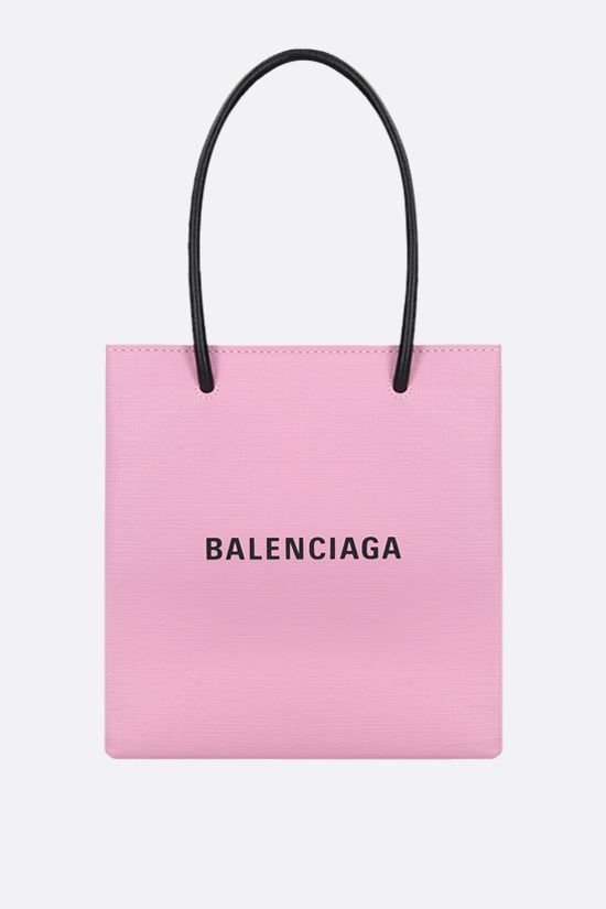 BALENCIAGA: Shopping XXS textured leather tote Color Pink_1