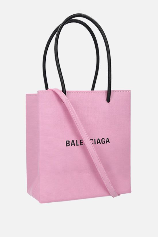 BALENCIAGA: Shopping XXS textured leather tote Color Pink_2