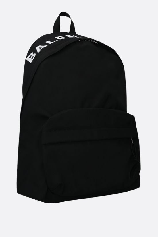 BALENCIAGA: Wheel recycled nylon backpack Color Black_2