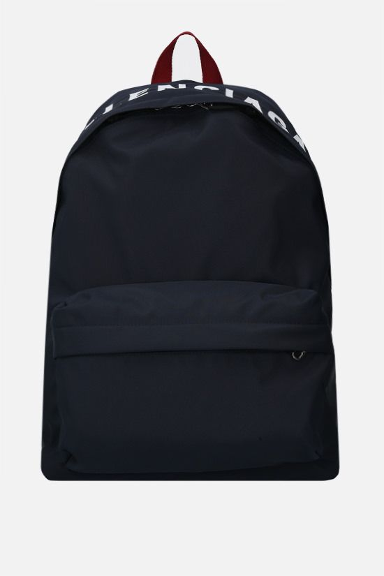 BALENCIAGA: Wheel recycled nylon backpack Color Blue_1