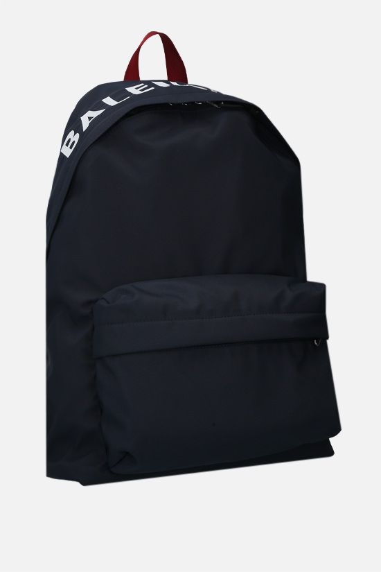 BALENCIAGA: Wheel recycled nylon backpack Color Blue_2