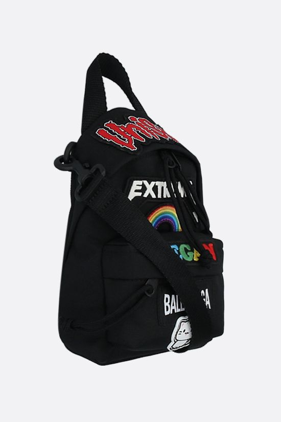 BALENCIAGA: Oversize recycled nylon strap backpack Color Black_2