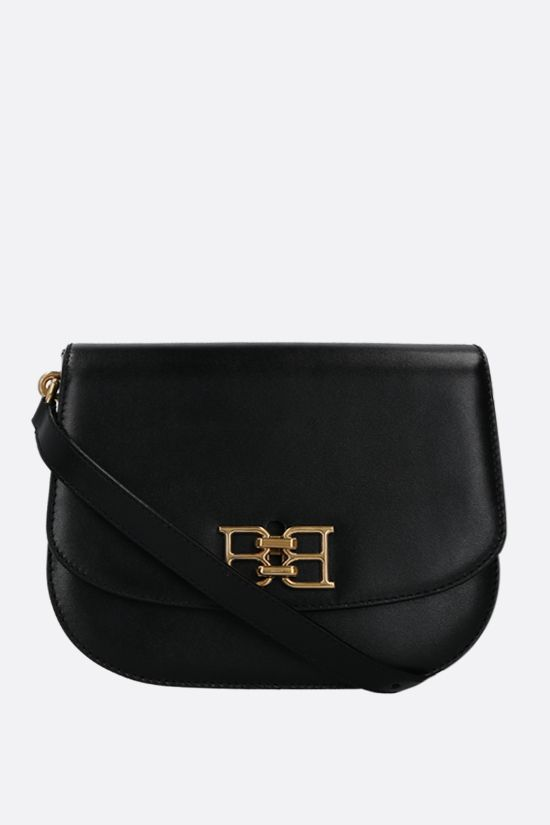 BALLY: Beckie textured leather shoulder bag Color Black_1