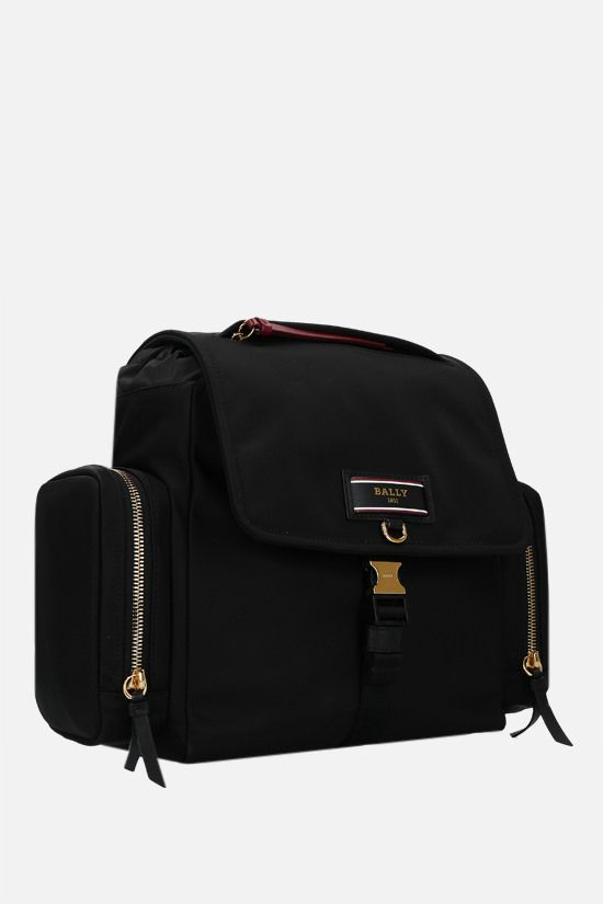 BALLY: Evany recycled nylon backpack Color Black_2