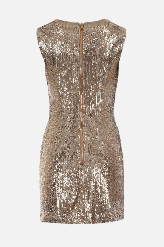 BALMAIN: sequinned fabric minidress Color Gold_2
