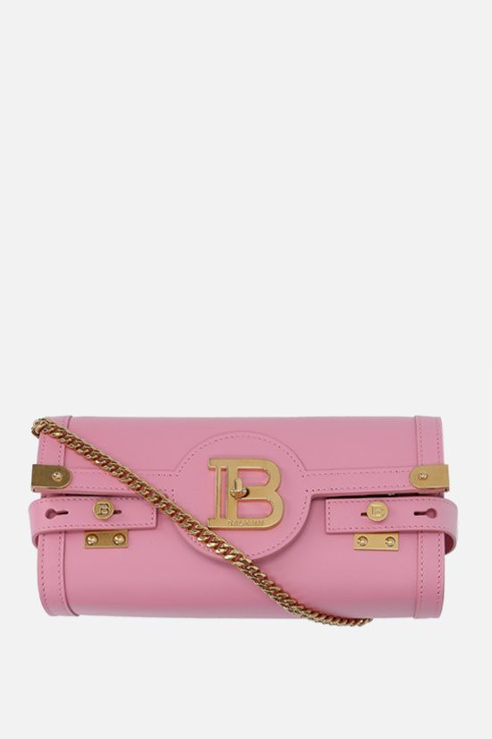 BALMAIN: B-Buzz 23 smooth leather shoulder bag Color Pink_1
