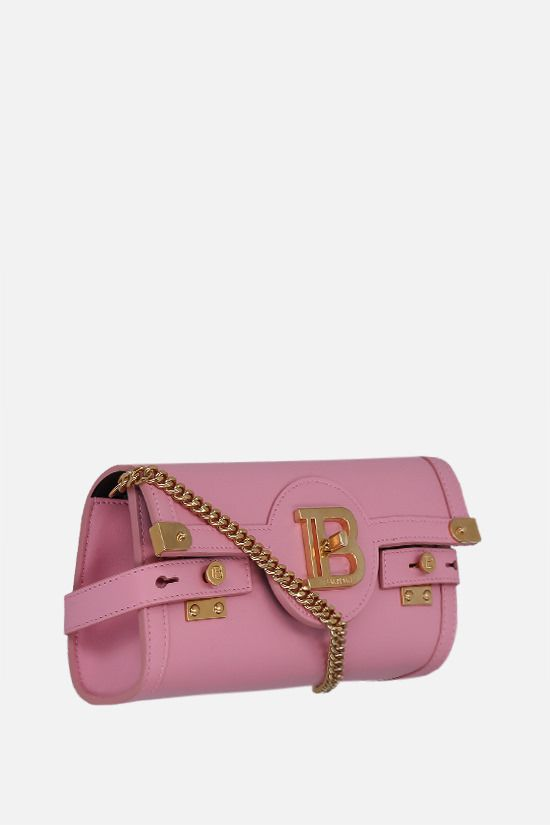 BALMAIN: B-Buzz 23 smooth leather shoulder bag Color Pink_2