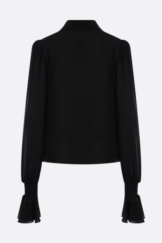 BALMAIN: silk georgette shirt Color Black_2