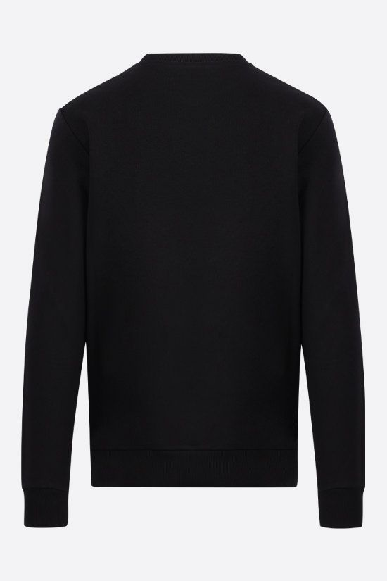BALMAIN: logo print cotton sweatshirt Color Black_2