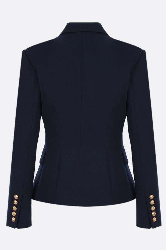 BALMAIN: double-breasted wool jacket Color Blue_2