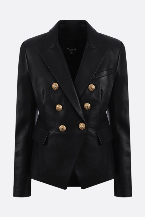 BALMAIN: nappa double-breasted jacket Color Black_1