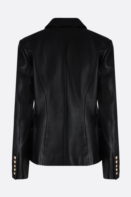 BALMAIN: nappa double-breasted jacket Color Black_2