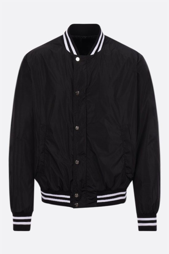 BALMAIN: Balmain Paris print nylon padded bomber jacket Color Black_1